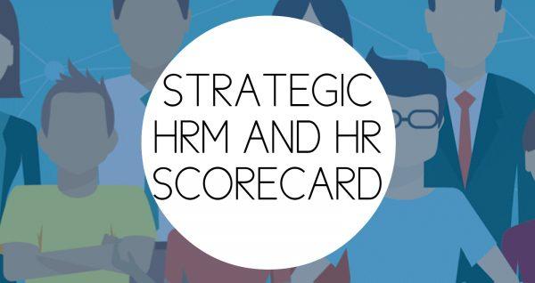 Training HR STRATEGIC HRM AND HR SCORECARD