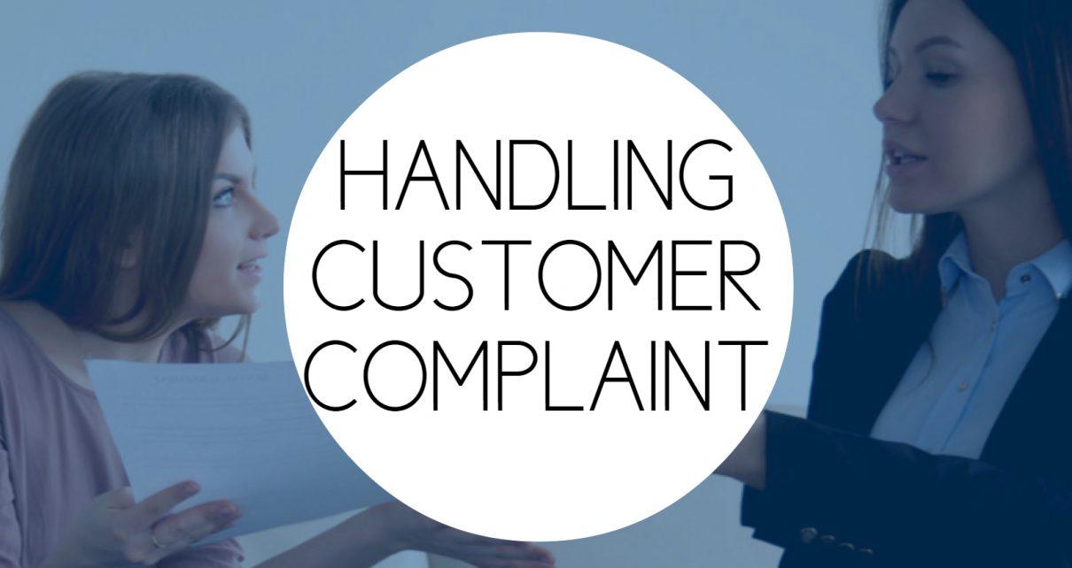 Training Handling Customer Complaint
